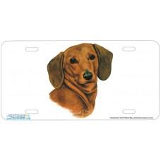 Dachshund Airbrushed License Plate