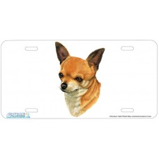 Chihuahua Airbrushed License Plate