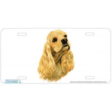 American Cocker Spaniel Dog Airbrushed License Plate