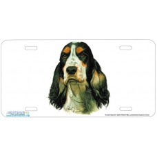 Cocker Spaniel Airbrushed License Plate