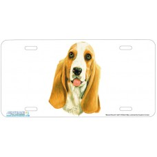 Basset Hound Dog Airbrushed License Plates