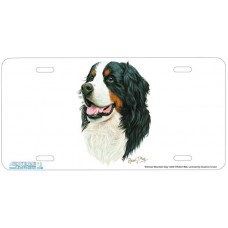 Bernese Mountain Dog Airbrushed License Plates