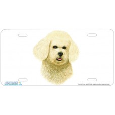 Bichon Frise Dog Airbrushed License Plates