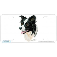 Border Collie Dog Airbrushed License Plates