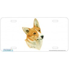 Corgi Airbrushed License Plate
