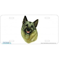 Elkhound Airbrushed License Plate
