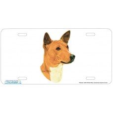Basenji Dog Airbrushed License Plates