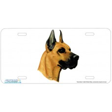 Great Dane Airbrushed License Plate