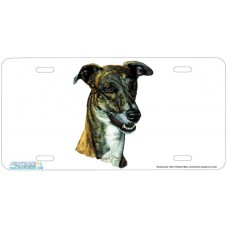 Greyhound Airbrushed License Plate