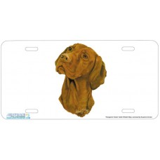 Hungarian Vizsla Airbrushed License Plate
