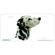 Dalmatian Airbrushed License Plate