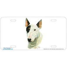 English Bull Terrier Airbrushed License Plate