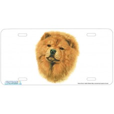 Chow Chow  Airbrushed License Plate