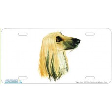 Afghan Hound - Dog Airbrushed License Plates