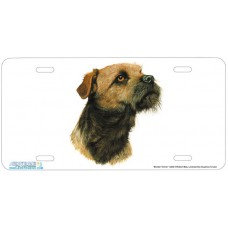Border Terrier Airbrushed License Plate
