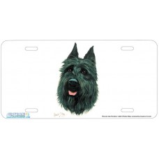 Bouvier des Flanders Airbrushed License Plate