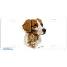Brittany Spaniel Airbrushed License Plate