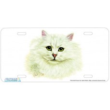 Chinchilla Persian Cat Airbrushed License Plate