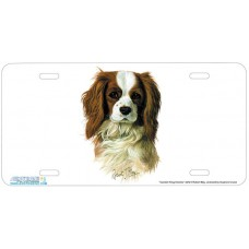 Cavalier King Charles Airbrushed License Plate
