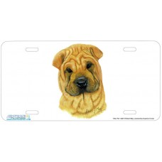 "4287-""Shar Pei"" Airbrushed License Plate"