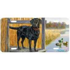Black Lab Mixed Company Airbrushed License Plate