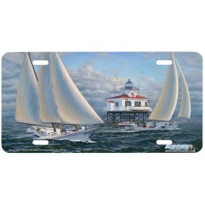 """""""Days of Glory"""" Sailboat Marine Airbrushed License Plate"""