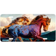 """Carousel II"" Horse Airbrushed License Plate"