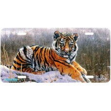 """""""Tiger Cub"""" Tiger Airbrushed License Plate"""