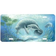 Manatee Serenity Airbrushed License Plate