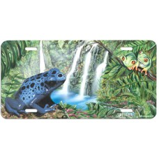 Rainforest Frogs Airbrushed License Plate