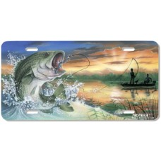 Catch of the Day- Bass Fish Airbrushed License Plate