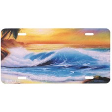 Morning Sunrise Airbrushed License Plate