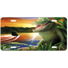 Alligator Lagoon- Airbrushed License Plates