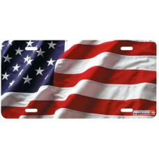 American Flag- Patriotic Airbrushed License Plate
