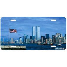 Twin Towers 9/11 New York Patriotic Airbrushed License Plate