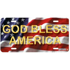 God Bless America- Patriotic Airbrushed License Plate