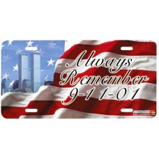 Always Remember 9/11 Tribute New York Twin Towers Airbrushed License Plate