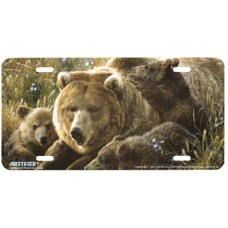 Close to Mom- Bear Airbrushed License Plate