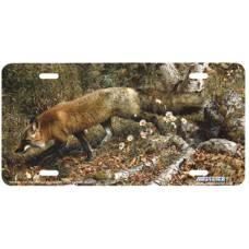 Pathfinder Fox Airbrushed License Plate