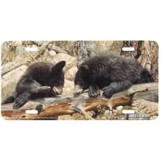 Black Bears- Bear Airbrushed License Plate