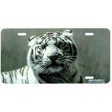 White Tiger License Plate Airbrushed License Plate