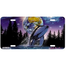 Whale Star by Moon Airbrushed License Plate