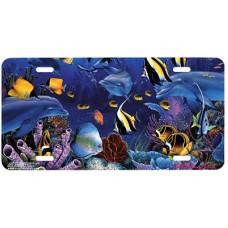 Eternal Rainbow Sea Tropical Fish & Sea Life Airbrushed License Plate