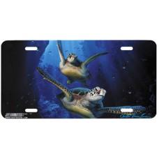 Turtle Dreams- Ocean- Sea Airbrushed License Plate