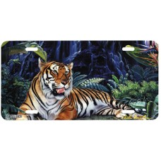 Eyes of the Tiger Airbrushed License Plate