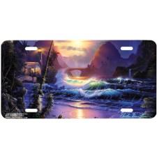Beckoning Light Sunrise w/ Mountains- Airbrushed License Plates