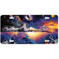 Galaxy of Life Airbrushed License Plate