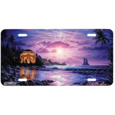 Temple of Light Airbrushed License Plate
