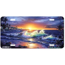Tropical Dawn Airbrushed License Plate
