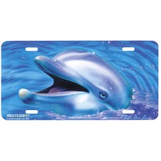 Chantik- Dolphine -Fish - Flipper Airbrushed License Plate
